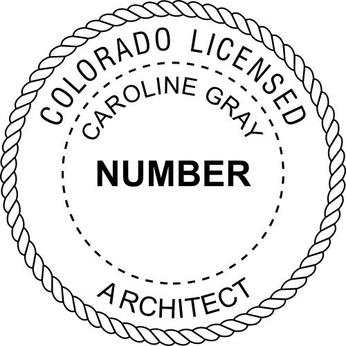 Colorado Architect Stamp Seal
