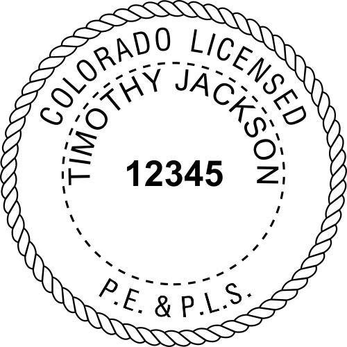 Colorado Pro Engineer & Land Surveyor Stamp Seal