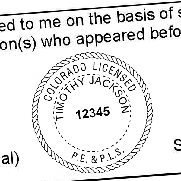 State of Colorado Combined Prof Engineer and Land Surveyor Seal Imprint