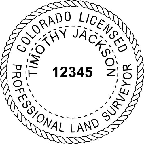 Colorado Land Surveyor Stamp Seal