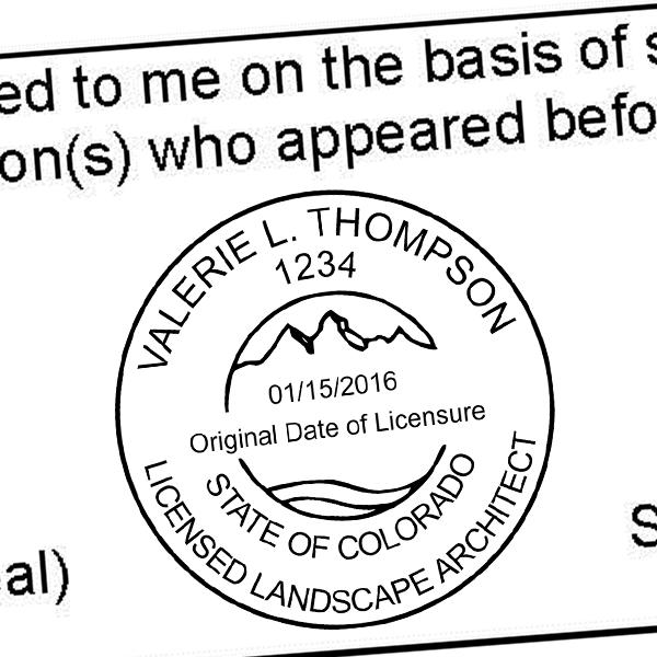 State of Colorado Landscape Architect Seal Imprint
