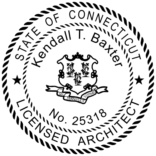 Connecticut Architect Stamp Seal