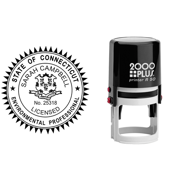State of Connecticut Environmental Professional Seal Body and Imprint
