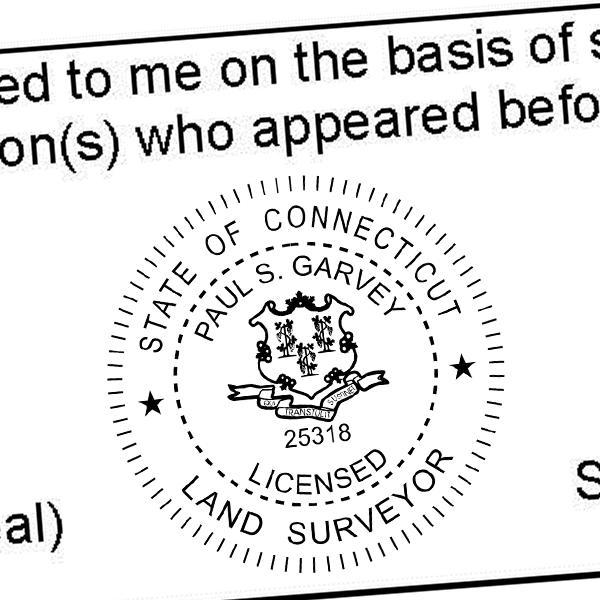 State of Connecticut Land Surveyor Seal Imprint