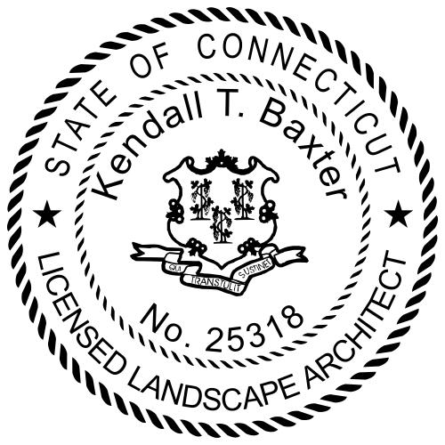 Connecticut Landscape Architect Stamp Seal