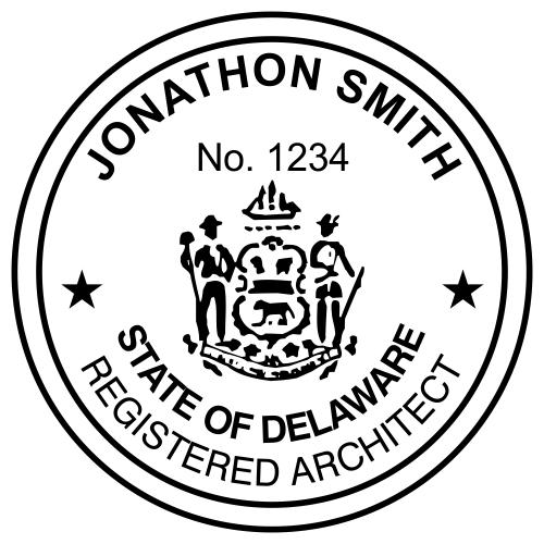 Delaware Architect Stamp Seal
