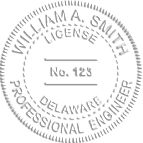 State of Delaware Engineer Seal