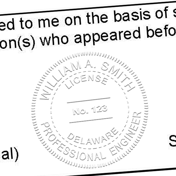 State of Delaware Engineer Seal Seal Imprint