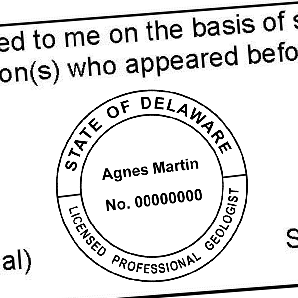 State of Delaware Geologist Seal Imprint