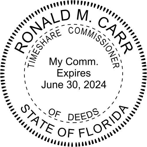 Florida Commissioner of Time Shares Seal