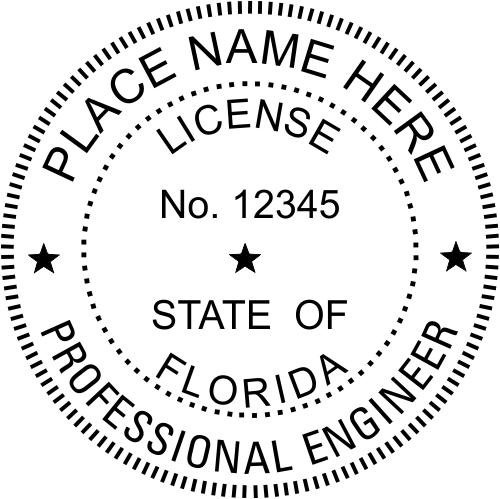 Florida Engineer Stamp Seal