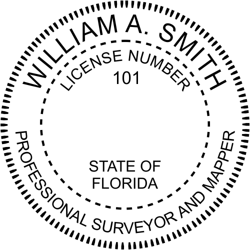 Florida Land Surveyor Mapper Seal