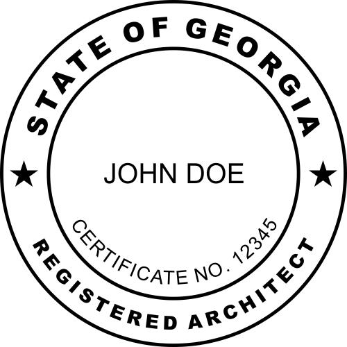 Georgia Architect Seal