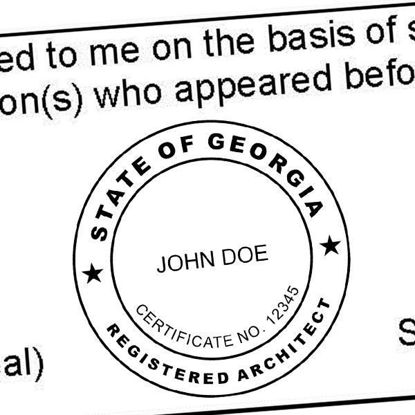 State of Georgia Architect Seal Imprint