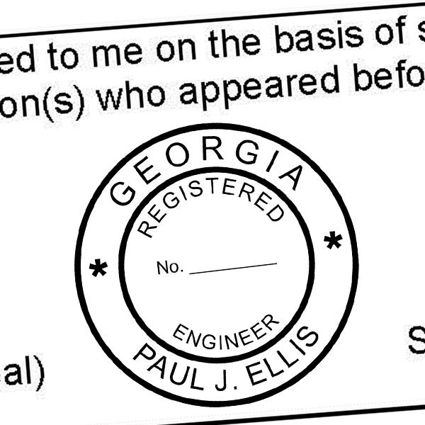 State of Georgia Engineer Seal Seal Imprint