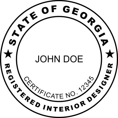 Georgia Interior Designer Stamp