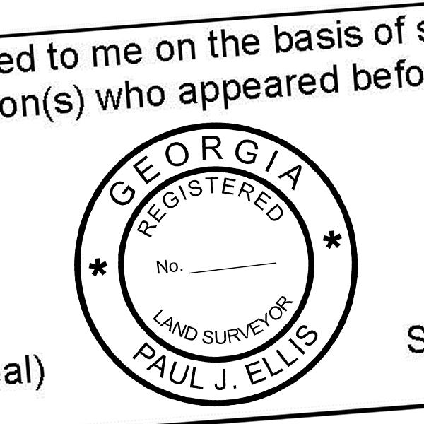 State of Georgia Land Surveyor Seal Imprint