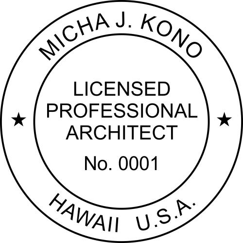 Hawaii Architect Stamp Seal