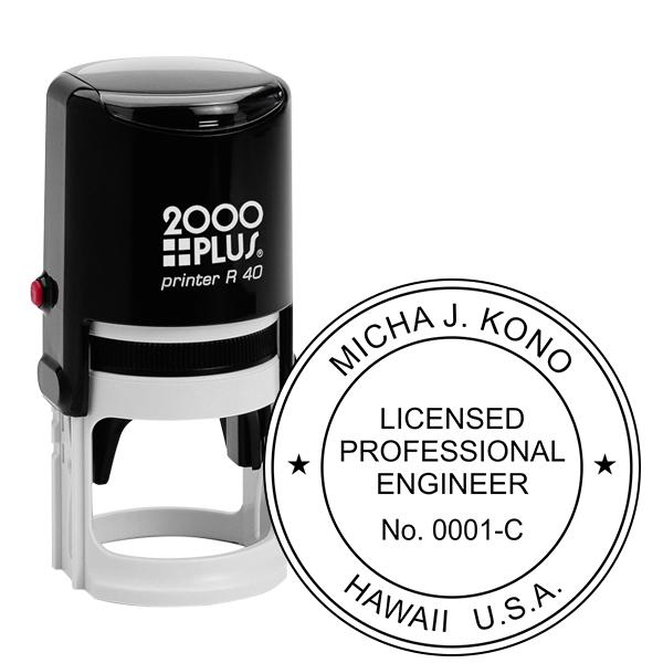 State of Hawaii Engineer Seal