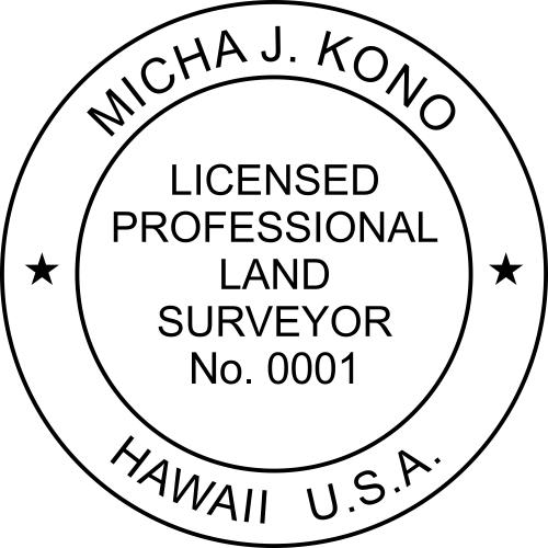 Hawaii Land Surveyor Stamp Seal