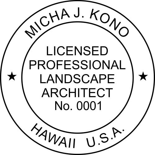 Hawaii Landscape Architect Stamp Seal