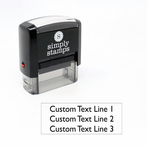 3 line Custom Self-Inking Stamp