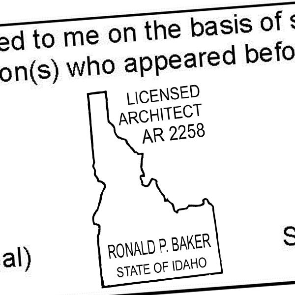 State of Idaho Architect Seal Imprint