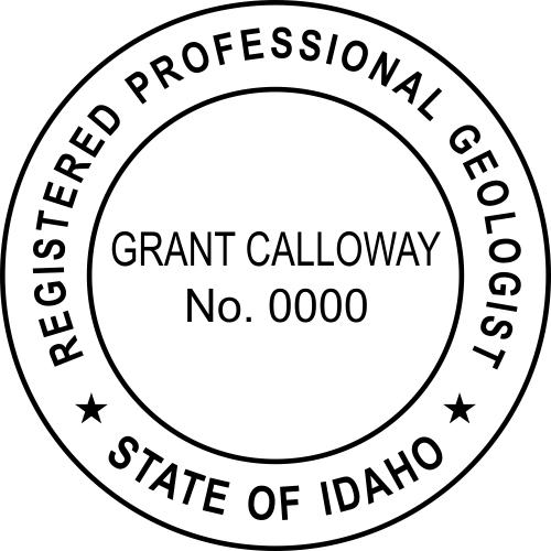 Idaho Geologist Stamp Seal