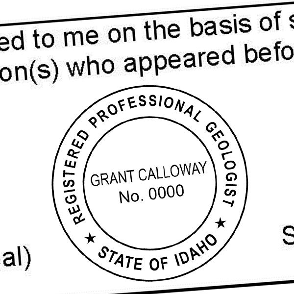 State of Idaho Geologist Seal Imprint