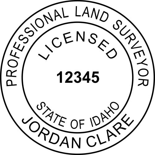 Idaho Land Surveyor Stamp Seal