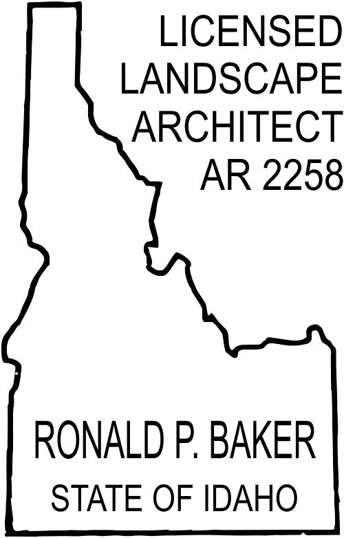 Idaho Landscape Architect Stamp Seal