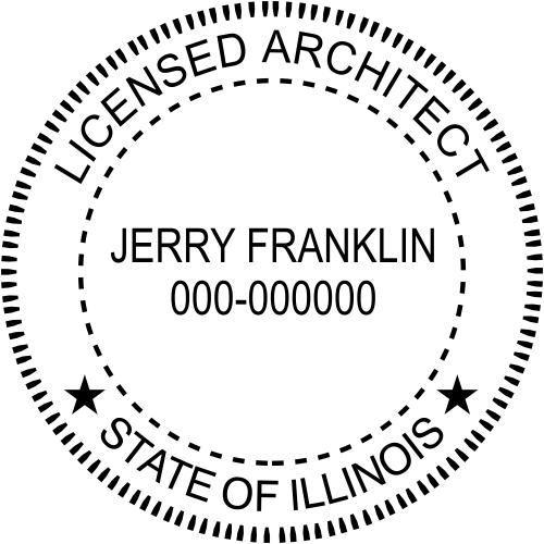 Illinois Architect Stamp Seal
