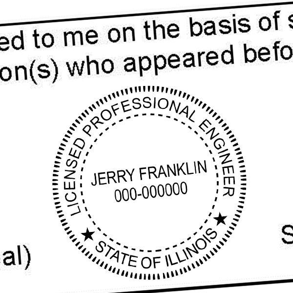 State of Illinois Engineer Seal Seal Imprint