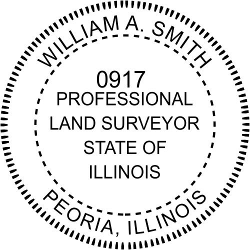 Illinois Engineer Stamp Seal