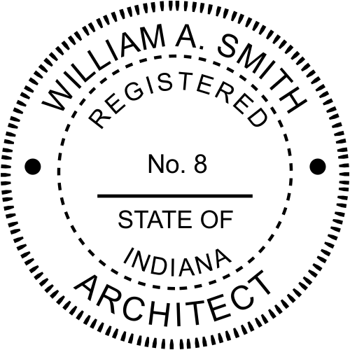 Indiana Architect Stamp Seal