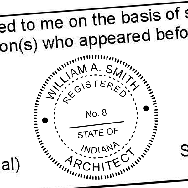State of Indiana Architect Seal Imprint