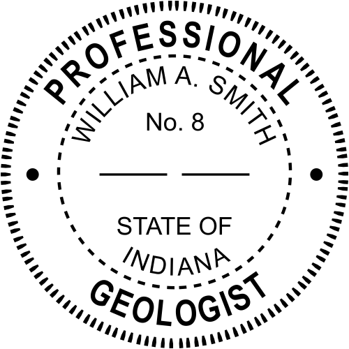 Indiana Geologist Stamp Seal