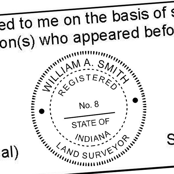 State of Indiana Land Surveyor Seal Imprint