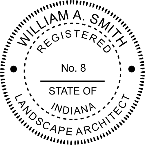 Indiana Landscape Architect Stamp Seal