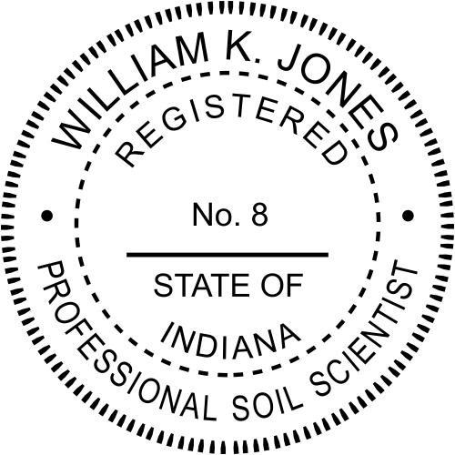 Indiana Soil Scientist Stamp Seal