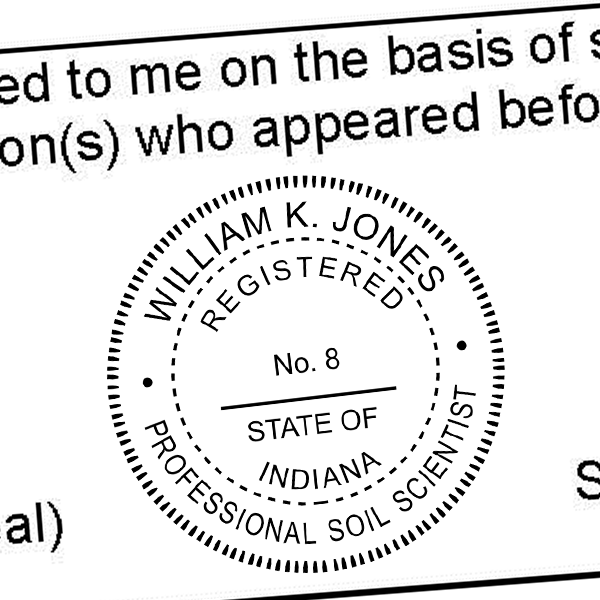 State of Indiana Soil Scientist Seal Imprint