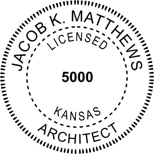 Kansas Architect Stamp Seal
