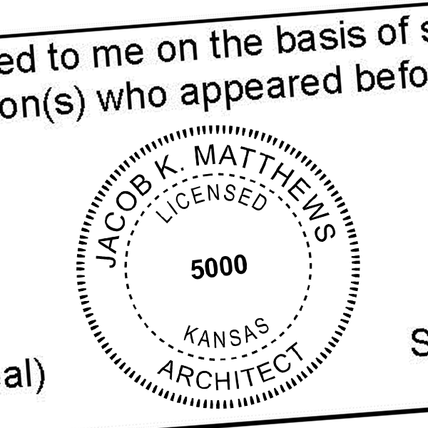 State of Kansas Architect Seal Imprint