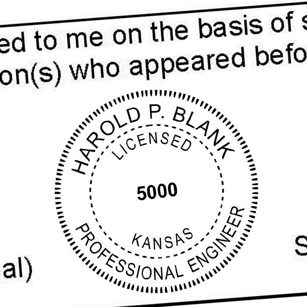 State of Kansas Engineer Seal Seal Imprint