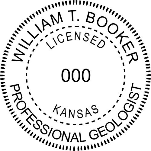 Kansas Geologist Stamp Seal