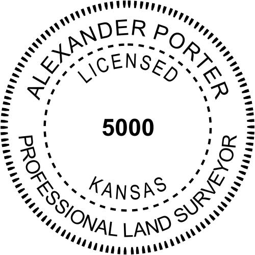 Kansas Land Surveyor Stamp Seal