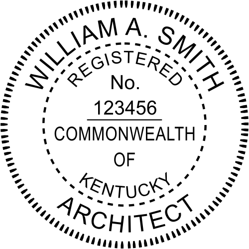 Kentucky Architect Stamp Seal