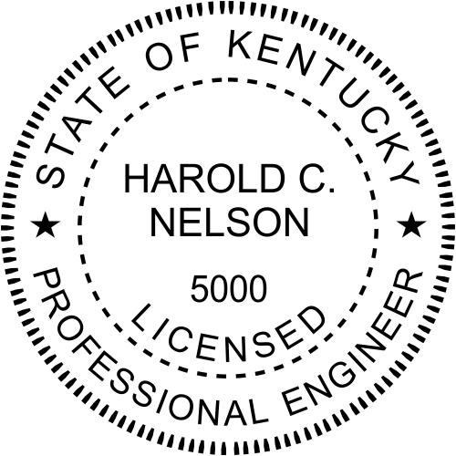 Kentucky Engineer Stamp Seal