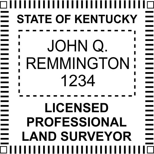 Kentucky Land Surveyor Stamp Seal