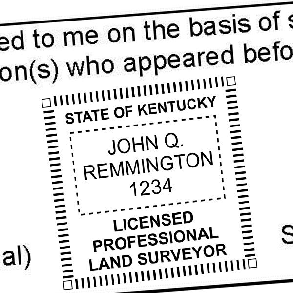 State of Kentucky Land Surveyor Stamp Seal Imprint